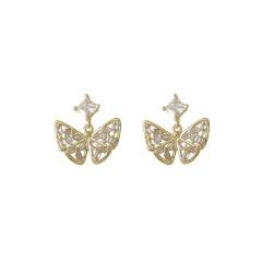 Colorful Tassel Long Butterfly Earrings for Women style 1