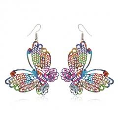 Colorful Tassel Long Butterfly Earrings for Women style 2