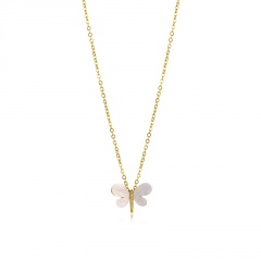 Fashion Gold Long Chain Dargonfly Pendant Necklace for Women style 2