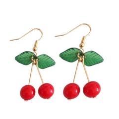 fruit cherry ear hook earrings wholesale cherry