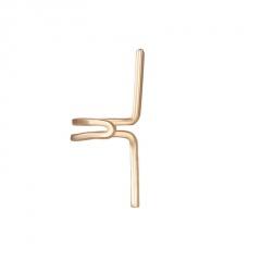 1 piece U-shaped ear clip ear buckle ear hanging earrings gold
