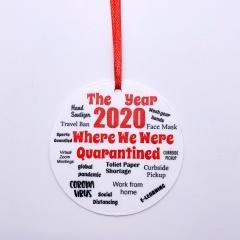 2020 Memoirs Acrylic Christmas Tree Hanging Ornament style 6