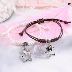 2 Pieces/Set Couple Rope Adjustable Bracelets Wholesale style 13
