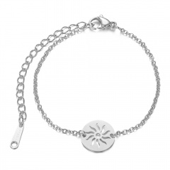 Sunflower Stainless Steel Chain Bracelets Wholesale silver