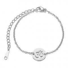 Yoga Stainless Steel Chain Bracelet for Women silver