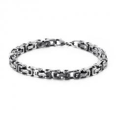 Men's Chain Stainless Steel Bracelets Wholesale silver