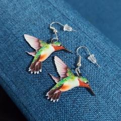 Colorful Bird Hook Earrings Wholesale style 1