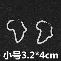 Fashion Irregular Africa Map Stud Earrings Wholesale small silver