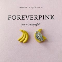Small Sweet Fruit Stud Earrings Jewelry Wholesale banana ear clip