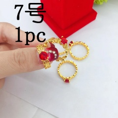 Fashion Gold Red Stone Rings Jewelry Wholesale #7