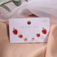 Enamel Earrings 3PCS/Set Wholesale 3