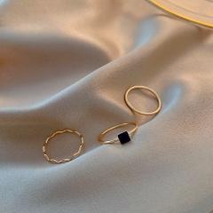 Fashion rings set Gold Plated  (size 1.8cm) 3PCS/Set