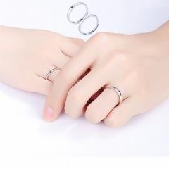 Moon Sun Glossy Open Couple Rings (Adjustable opening) 2pcs/set