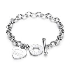 Love heart Bible Proverbs OT Buckle Titanium Steel Bracelet steel