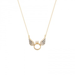 Wing Angel Titanium Steel Necklace (chain length 45cm) gold