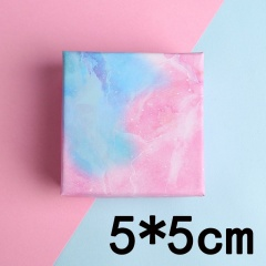 Color Marble Jewelry Cardboard Black Card Gift Box 5*5cm