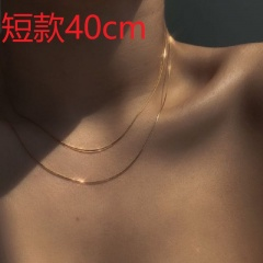 Soft snake bone chain chain necklace alloy necklace opp Short 40cm