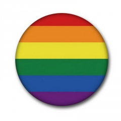 Geometric round color gay brooch (size 4.5cm) A
