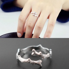 Branch opening adjustable copper ring sliver