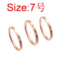 3pcs/set Two glossy rings and a ring set with rhinestones Set #7