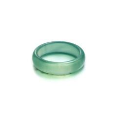 Natural Stone Glossy Ring #8 Emerald