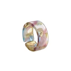 Color blooming open resin ring A