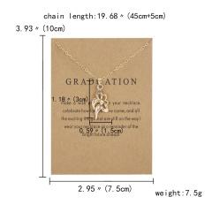 Letter Symbol Tassel Adjustable Yellow Card Paper Card Necklace (chain length: 45+5cm, cardboard: 10*7.5cm) Graduation A