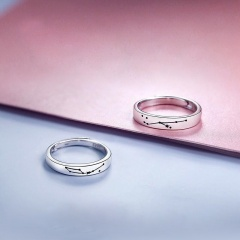 2pcs/set Cowherd and Weaver Girl Starry Sky Love Opening couple ring set A